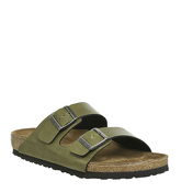 Birkenstock Arizona Two Strap PULL UP OLIVE