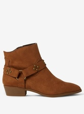 Womens Tan 'Maryann' Prairie Ankle Boots- Brown, Brown