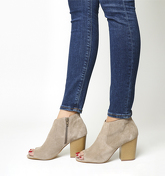 Office Jasmine Peeptoe Boot TAUPE SUEDE
