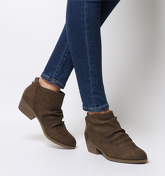 Blowfish Malibu Stood Up Ankle Boot TOBACCO RUSTIC FAUX SUEDE