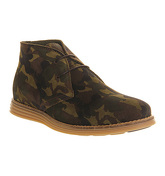 Ask the Missus Jupiter Chukka boots CAMO PRINTED SUEDE GUM SOLE