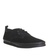 Office Debut Lace Up BLACK SUEDE