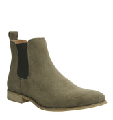 Ask the Missus Endeavour Chelsea Boots KHAKI SUEDE