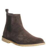 Ask the Missus Danish Chelsea Boot CHOCOLATE SUEDE NATURAL SOLE