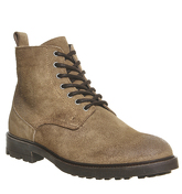 Ask the Missus Erin Lace Shearling Boot KHAKI SUEDE
