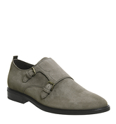 Ask the Missus Edoardo Monk Shoe GREY SUEDE