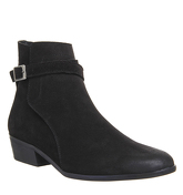 Ask the Missus Eastern Strap Boot BLACK SUEDE