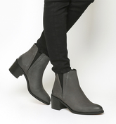 Office Acton- Pointed Chelsea Boot GREY NUBUCK