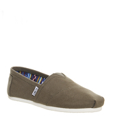 Toms Classic Slip On OLIVE CANVAS