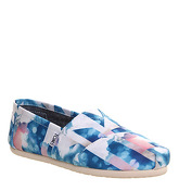 Toms Seasonal Classic Slip On CLEAR WATER SATIN
