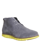 Ask the Missus Data Chukka Boot GREY SUEDE YELLOW SOLE