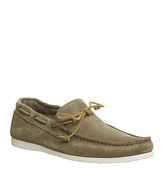 Ask the Missus Draft Boat Shoe BEIGE SUEDE