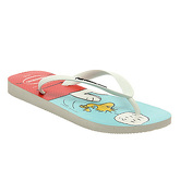 Havaianas Snoopy Flip Flop WHITE