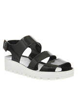 JuJu Poppy Flatform BLACK WHITE