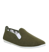 Flossy Tony Plimsole KHAKI CANVAS