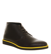 Ask the Missus Randy Chukka boots BROWN LEATHER YELLOW POP