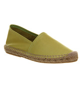 Office Kapture Espadrille LIME GREEN LEATHER