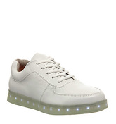 Irregular Choice State Of Flux Sneaker WHITE LEATHER WHITE LIGHT