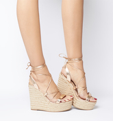 Office Hula Ghillie Chunky Wedge ROSE GOLD