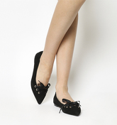 Office Portia Lace Front Point BLACK SUEDE