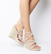 Office Honeydew Glam Strappy Wedge NUDE DIAMANTE