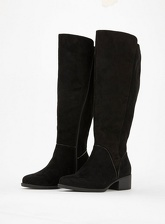 Extra Wide Fit Black Over The Knee Boots, Black (wide!)