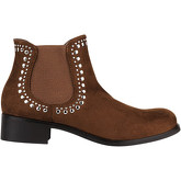 Krisp  Studded Cowboy Chelsea Boots {Tan}  women's Low Ankle Boots in Brown