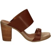 Café Noir  LB911 High heeled sandals Women Brown  women's Mules / Casual Shoes in Brown
