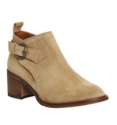 Office Jeopardy Low Cut Buckle Boot CAMEL SUEDE