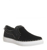 Office Precious Studded Slip On Trainer BLACK VELVET