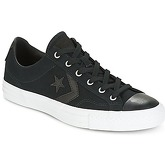 Converse  STAR PLAYER CANVAS WITH GUM OX BLACK/BLACK/WHITE  men's Shoes (Trainers) in Black