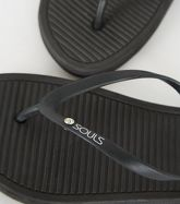 Souls Black Massage Sole Flip Flops New Look