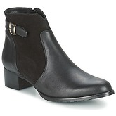 So Size  SERELLE  women's Low Ankle Boots in Black