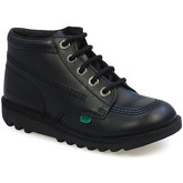 Kickers  Kick Hi Junior J Core Black Leather Boots  men's Low Ankle Boots in Black