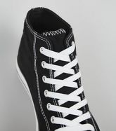 Black Canvas Stripe Sole High Top Trainers New Look