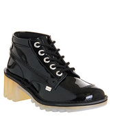 Kickers Kopey Hi BLACK PATENT LEATHER
