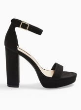 Womens Siren Black Platform Sandals, BLACK