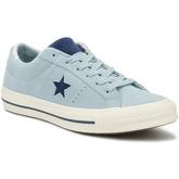 Converse  One Star Mens Blue Tropical Ox Trainers  men's Shoes (Trainers) in Blue
