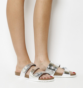 Office Bounty Cross Strap Footbed SILVER