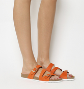 Office Bounty Cross Strap Footbed ORANGE NUBUCK