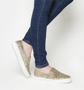 Office Kicker Slip On GOLD GLITTER