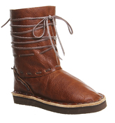 Chamula Vw Boot BROWN LEATHER