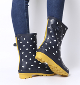 Joules Molly Welly FRENCH NAVY SPOT