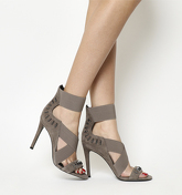 Kendall - Kylie Gianna Heel TAUPE LEATHER