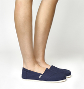 Toms Classic Slip On NAVY CANVAS