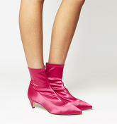 Office Atomic Stretch Kitten Heel HOT PINK SATIN