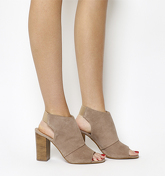 Office Hysterical Block Heel Shoeboot TAUPE SUEDE
