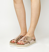 Office Mexico Cross Strap Footbed ROSE GOLD MIRROR