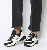 Office Freestyler Hiker Lace Up WHITE AND BLACK