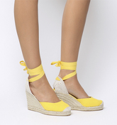 Office Marmalad Part Espadrille YELLOW CANVAS